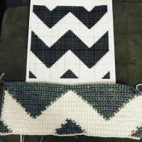 Part 2 of my #monogrampillow ...time for a #chevron back!!! Just 😍😘😍how this is turning out! . . Pattern created using @stitchfiddle Yarn is #caronsimplysoft White and #caronsimplysofttweeds in Grey Heather. . . #yarnspirations #caronyarn #singlecrochet #graphghan #graphghanpattern #grayandwhite #chevronpillow #madeinkw #elmira #specialorder #shoplocal #shopsmall #shopsmallmovement #michaelsstores #makeiteithmichaels #stitchfiddle