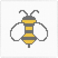 Loving the bees at the moment! Planning a sampler graphgan. #bee #stitchfiddle #crochet #crochetlove #crochetaddict #fibreart #fibreartist #crochetgeek #crossstitch