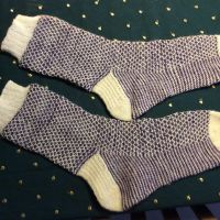 Broken seed stitch socks toe-up