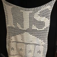 Filet Crochet Dept Wall Hanging