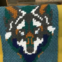 Wolf Face Baby Blanket
