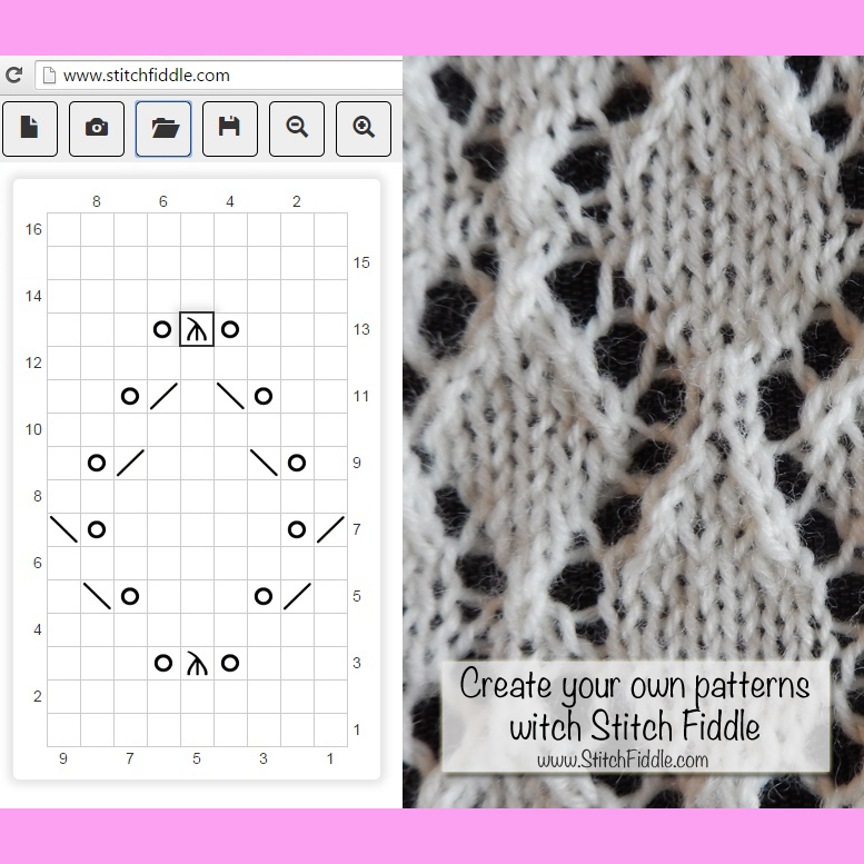 Create your own knitting chart pattern