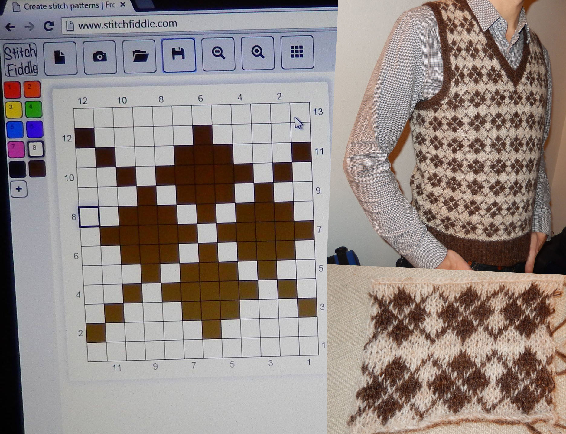 Knitting Squares Patterns : Create your own knitting chart pattern