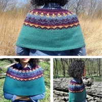 The Writing Capelet, Part II: Colour work | Handmade habit