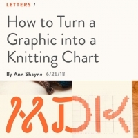 How to turn a graphic into a knitting chart - Mason-Dixon Knitting