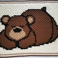 Sleepy bear baby blanket | Highlight Hickory Designs