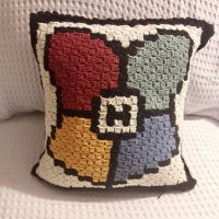 DIY cushion Harry Potter C2C and bubble point | The Magic's World