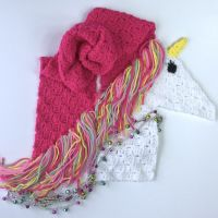 Unicorn Scarf C2C Crochet Tutorial | Nana's Crafty Home