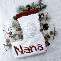 Christmas Blessings Crochet Stocking Free Pattern | Nana's Crafty Home