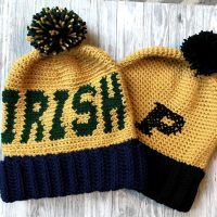 Game Day Beanie Crochet Pattern | Crochet It Creations