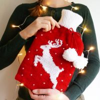 Cerf-Moi-Fort! Deer Knitting Hot Water Bottle Cover | Fibre & Folk