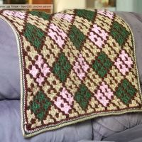 Argyle Lap Throw - Tying An End