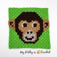 "Free Crochet Pattern: ""Chimp Lolo"" C2C - Wildlife Graphghan CAL 