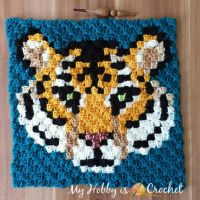 """Tigris, the Siberian Tiger"" C2C Square - Free Crochet Pattern + Graph 