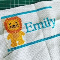 Quick little project I'm preparing for a special little girl who likes lions and blue!