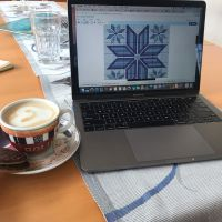 Afternoon coffee break as I work on my next design. Thanks #stitchfiddle and #nespresso for helping with this variation on the Icelandic Star/Snowflake design • • • • • #crossstitch #xstitch #embroidery #needlework #pointdecroix #craft #handembroidery #diy #crafty #broderie #crafts #crafting #sewing #crossstitcher #crossstitching #embroideryart #yarn #handcrafted #etsy #crossstitchersofinstagram #xstitching #iceland