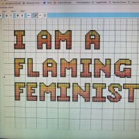 I made my first #crossstitch pattern. So excited to get started. Thanks @stitchfiddle #stitchfiddle #crossstitchit #crossstitching #crossstitcher #crossstitchersofinstagram #xstitchersofinstagram #xstitch #rbg #ruthbaderginsburg #feminist