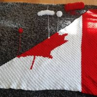 What a difference only 5 rows makes. You can see at the top right its starting to decrease over, and the bottom left where I've started the other side of red. I love seeing my projects (especially something I've created) take shape. It's a good sense of calm and accomplishment. #canadianflagblanket #nnchandmade #stitchfiddle #c2ccrochet #ohcanada #canadiangirl
