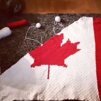 96 rows down. I can officially start decreasing both sides. #c2ccrochet #nnchandmade #canadianflagblanket #c2c #crochet #stitchfiddle #graphgan #itsactuallytherightsize #icandothings @heidimckinlay