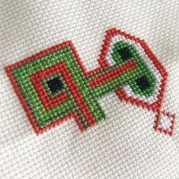 So far, so good with this geometric design using my favourite DMC greens and coral. • • • • • #crossstitch #xstitch #embroidery #needlework #pointdecroix #craft #handembroidery #diy #crafty #broderie #crafts #crafting #sewing #crossstitcher #crossstitching #embroideryart #yarn #handcrafted #etsy #etsyuk #crossstitchersofinstagram #xstitching #iceland #lopapeysa #etsyseller #geometricpattern #stitchfiddle