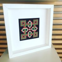 New finish! Enjoyed this infinity knot with cheerful greens and coral. • • • • • #crossstitch #xstitch #embroidery #needlework #pointdecroix #craft #handembroidery #diy #crafty #broderie #crafts #crafting #sewing #crossstitcher #crossstitching #embroideryart #yarn #handcrafted #etsy #etsyuk #crossstitchersofinstagram #xstitching #iceland #geometricpattern #etsyseller #stitchfiddle