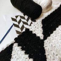 My #WIPWednesday is a little different this week! Be on the lookout in a couple of weeks for this tutorial and printout #OnTheBlog. . . #Crochet #Corner2Corner #C2C #Harringbone #StitchFiddle #SneakPeak #BlackandWhite