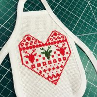 Getting my festive on with current WIP. Debating whether to add a border top and bottom... • • • • • #crossstitch #xstitch #embroidery #needlework #pointdecroix #craft #handembroidery #diy #crafty #broderie #crafts #crafting #sewing #crossstitcher #crossstitching #embroideryart #yarn #handcrafted #etsy #etsyuk #crossstitchersofinstagram #xstitching #iceland #lopapeysa #etsyseller #stitchfiddle #wipwednesday #winebottleapron