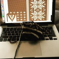 #stitchfiddle helping me design my own #selbu! Easier to notate alterations to make just the right size. #howarewefaithful #keepwarm #knitting