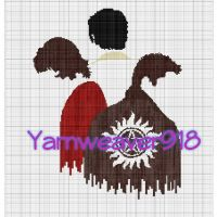 messin' with #stitchfiddle for a #graphgan pic from Pinterest #yarnweaver918 #supernatural