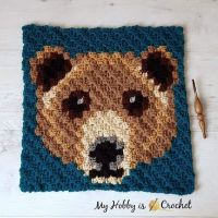 The Brown Bear 🐻 C2C Square, block no.12 of the #WildlifeGraphghanCAL was published! I hope you enjoy! 😀 ... Get the free pattern with row by row counts + graph on My Hobby is Crochet blog, link in my profile @myhobbyiscrochet ... .... #crochet #freepattern #freecrochetpattern #c2c #c2ccrochet #c2csquare #cornertocornercrochet #WildlifeGraphghan #CAL2019 #crochetalong #myhobbyiscrochet #myhobbyiscrochetpattern #myhobbyiscrochetblog #redheartyarns #redheartjoycreators #joycreators #crochetersofinstagram #crochetanimals #cutecrochet #bear #c2cbear #graphgancrochet #graphcrochet #stitchfiddle #pixelcrochet #pixelart #crochetcal #furlscrochethooks