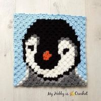 Do you love 🐧 penguins?? I really do! 😀 Meet Baby Penguin C2C Square, block no. 14 of our Wildlife Graphghan CAL! Make the whole blanket, or just this block and convert it into a cute pillow case. You can find my free pattern with written instructions + Graph on My Hobby is Crochet. ..... ..... ..... #crochet #freepattern #freecrochetpattern #c2c #c2ccrochet #c2csquare #cornertocornercrochet #WildlifeGraphghan #myhobbyiscrochet #myhobbyiscrochetblog #myhobbyiscrochetpattern #pixelcrochet #redheartyarns #joycreators #redheartjoycreators #crochetersofinstagram #cutecrochet #penguin #stitchfiddle