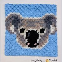 The Koala C2C Square is block no. 19 of  the Wildlife Graphghan Crochet-along... .... Get the free pattern with written instructions and graph on My Hobby is Crochet blog, link in my profile @myhobbyiscrochet . .... #WildlifeGraphghan #WildlifeGraphghanCAL #myhobbyiscrochet #myhobbyiscrochetpattern #crochet #freepattern #freecrochetpattern #c2c #koala #c2ccrochet #c2csquare #cornertocornercrochet #cornertocorner #graphcrochet #graphgancrochet #c2cgraphghan #crochetcal #crochetalong #crochetaddicted #stitchfiddle #pixelcrochet #pixelart #crochetersofinstagram #cutecrochet #crochetanimals #crochetaddicted #crochetfun #redheartyarns