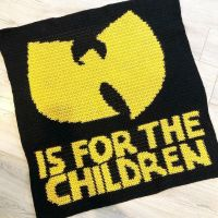 Baby Blanket for the next generation 😎 Wu-Tang is for the Children No pattern, I imported a picture into graph form using @stitchfiddle