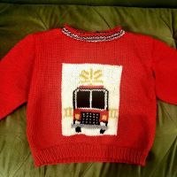 """While designing and knitting this toddler sweater was very fun for me, I couldn't help but have one of those """"the world is on fire, and here I am knitting a novelty firefighter sweater"""" moments. 🤷🏻♀️ #nevernotknitting #nevernothavinganexistentialcrisis Swipe to see design process, from photo research to quick sketch to digital design! . . . . . #intarsia #intarsiaknitting #knitweardesign #knitweardesigner #dropsbigmerino #handmadeisbetter #nicknits #stitchfiddle #nicknits #dropsfan"""