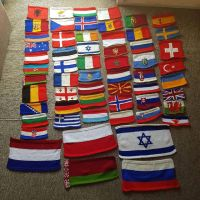 The 54 flags of nations who have competed at Eurovision or Junior Eurovision. This took some time and patience but finally I have made them all. The bigger flags below are the ones for junior 2018 through eurovision 2020 #knitrowvision #knitting #knittersofinstagram #stitchfiddle