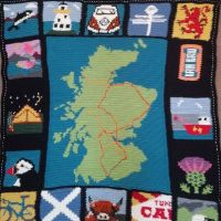 Looking for a project to keep you busy during Lockdown? Can't go to your favourite place this Easter? My Scottish Adventure Blanket is beginner friendly, using dc (sc in US terms) for all the squares. It's also a great stash buster. Find it on Ravelry or etsy. Link in bio #stashbuster #visitscotland #scottishcrochet #lovescotland #irnbru #orcas #tunnocks #crochetersofinstagram #independentdesigner #lovecrochet #stitchfiddle