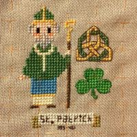 My first little guy for my Amazing Men in History is done! I chose St. Patrick for his bravery and forgiveness, in returning to the land of his slavery to share the love of his faith. Love how he turned out! I got to visit @stpatrickscathedral last summer. Designed by myself on #stitchfiddle #amazingmeninhistory stitched with #dmcfloss #crossstitchersofinstagram #crossstitch #stitchfiddle #stpatrick Also Green for the #ccmayphotochallenge