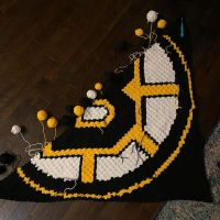 Just finished row 75. 5 more rows and I get to start decreasing one side. . . . #nnchandmade #cornertocornercrochet #graphgan #stitchfiddle #bostonbruins #bostonbruinsblanket #bostonbruinsgirl #nhlblanket