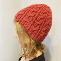 """New Pattern Alert!! Now until October 31 """"Bonnie's Hat"""" is 20% off in my Ravelry store, no code needed. https://ravel.me/bonnies-hat #newpattern #bonnieshat #ravelrypattern #ravelry #quinceandco #jilldrapermakesstuff #berrocovintage #cabledhat #twistedstitches #stitchfiddle #liftbridgeyarns"""