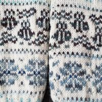 Fair isle bees and flowers closeup! #knitting #stitchfiddle