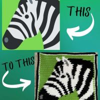 The FULL video: https://youtu.be/zwqx-103wlw In the full video I show the making of the pattern for this little square and in the description of the video there is a LINK to the pattern #Crochet #zebra #crochetzebra #zebracrochet #pictureblanket #crochetpictureblanket #graphgan #stitchfiddle #custompictureblanket #makingapictureblanket #howtocrochet #crochetersofinstagram #crochetinspiration #crochetincolor #zebrablanket #zebrastrong #medicalzebra #awarenesszebra #zebrasdoexist #ehlersdanlossyndrome #raredisease #rarediseasezebra #ehlersdanlos #crochetinginfastmotion #crochetersofinstagram #madeincalifornia #etsy #makingstringsintothings #smallbuisness #🦓💪