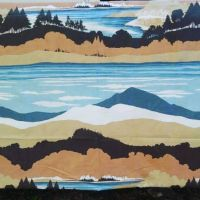 I love love love vintage bedsheet fabric! Omg how great are those colours together? I have an idea for a sweater (or blanket?🤔) ..First going to pixelate this vintage Burlington bedsheet swatch 🌲🏔️🌊🏞️ #vintagebedsheets #burlingtonbedsheets #stitchfiddlecrochet #StitchFiddle #wip #currentproject