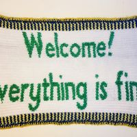 "The Good Place's ""Welcome! Everything is fine."" Placemat"