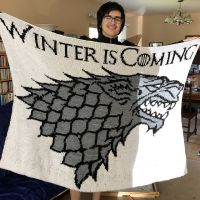 Game of Thrones House Stark Afghan