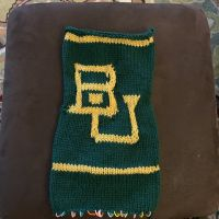 Baylor Interlocking BU scarf test pattern