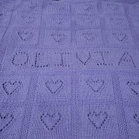 Personalized Lace Heart Blanket