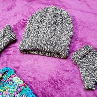 Magnolia Cable Fingerless Gloves