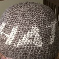 Crocheted Ribbed Hat - with graph