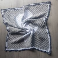 My first baby bunny blanket